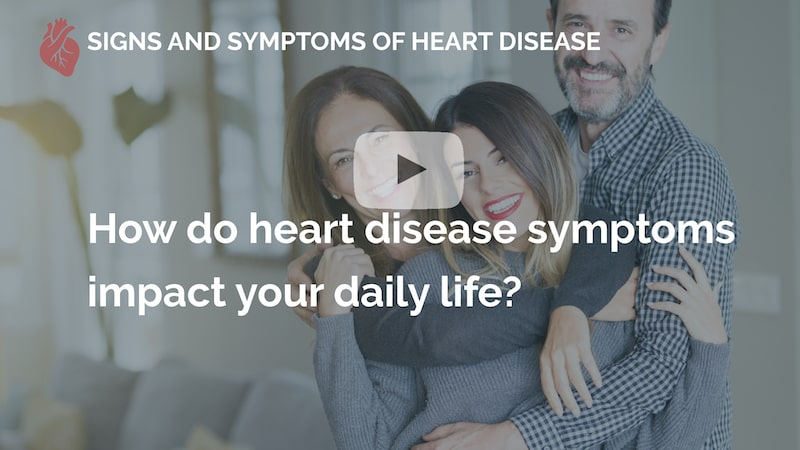 How do heart disease symptoms impact your daily life many beats london