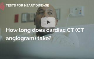 How long does cardiac ct take many beats london