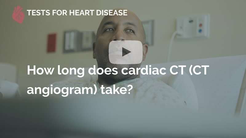 How long does cardiac ct take many beats london