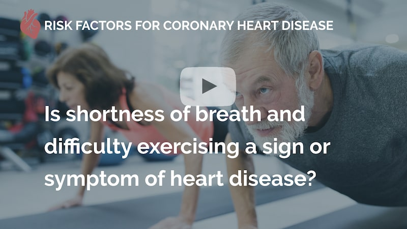 Is shortness of breath and difficulty exercising a sign or symptom of heart disease many beats london